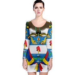 Coat of Arms of Colombia Long Sleeve Bodycon Dress