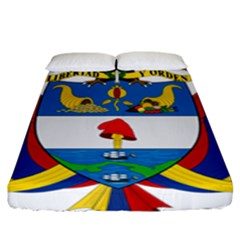 Coat of Arms of Colombia Fitted Sheet (King Size)