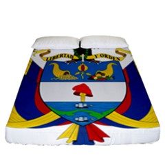 Coat of Arms of Colombia Fitted Sheet (California King Size)
