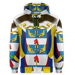 Coat of Arms of Colombia Men s Zipper Hoodie