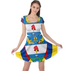 Coat of Arms of Colombia Cap Sleeve Dresses