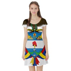 Coat of Arms of Colombia Short Sleeve Skater Dress