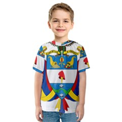 Coat of Arms of Colombia Kids  Sport Mesh Tee