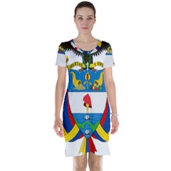 Coat of Arms of Colombia Short Sleeve Nightdress