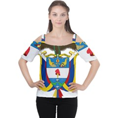 Coat of Arms of Colombia Women s Cutout Shoulder Tee