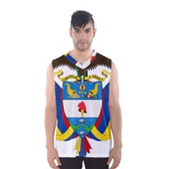 Coat of Arms of Colombia Men s Basketball Tank Top