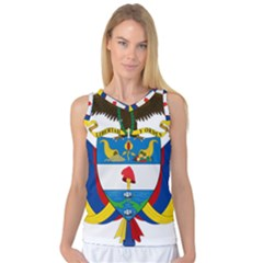 Coat of Arms of Colombia Women s Basketball Tank Top