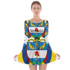 Coat of Arms of Colombia Long Sleeve Skater Dress