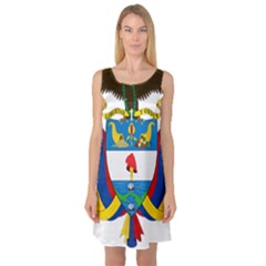 Coat of Arms of Colombia Sleeveless Satin Nightdress