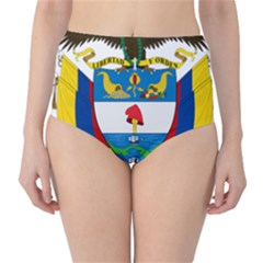 Coat of Arms of Colombia High-Waist Bikini Bottoms