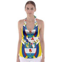 Coat of Arms of Colombia Babydoll Tankini Top