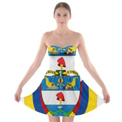 Coat of Arms of Colombia Strapless Bra Top Dress