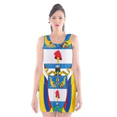Coat of Arms of Colombia Scoop Neck Skater Dress