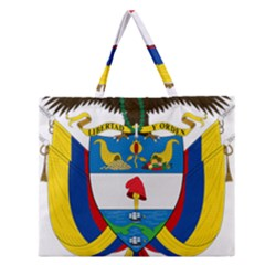 Coat of Arms of Colombia Zipper Large Tote Bag