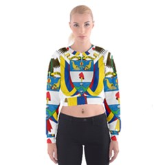Coat of Arms of Colombia Women s Cropped Sweatshirt