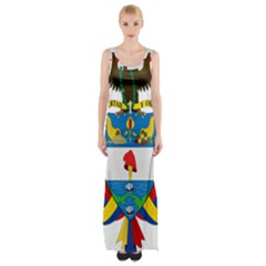 Coat of Arms of Colombia Maxi Thigh Split Dress