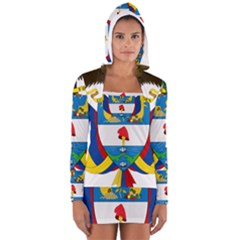 Coat of Arms of Colombia Women s Long Sleeve Hooded T-shirt
