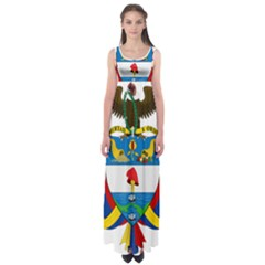 Coat of Arms of Colombia Empire Waist Maxi Dress