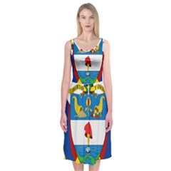 Coat of Arms of Colombia Midi Sleeveless Dress
