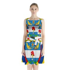 Coat of Arms of Colombia Sleeveless Chiffon Waist Tie Dress