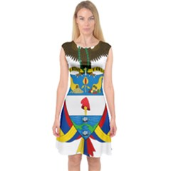 Coat of Arms of Colombia Capsleeve Midi Dress