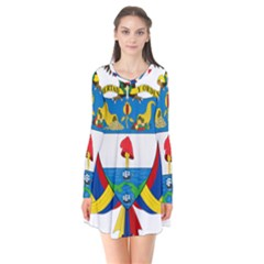 Coat of Arms of Colombia Flare Dress