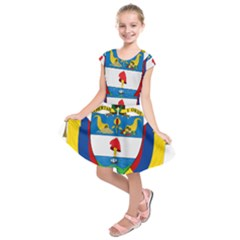 Coat of Arms of Colombia Kids  Short Sleeve Dress