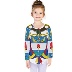 Coat of Arms of Colombia Kids  Long Sleeve Tee