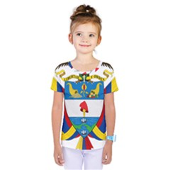 Coat of Arms of Colombia Kids  One Piece Tee