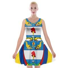 Coat of Arms of Colombia Velvet Skater Dress