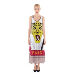 Coat of Arms of The Democratic Republic of The Congo Sleeveless Maxi Dress