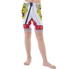 Coat of Arms of The Democratic Republic of The Congo Kids  Mid Length Swim Shorts