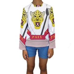 Coat of Arms of The Democratic Republic of The Congo Kids  Long Sleeve Swimwear