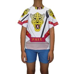 Coat of Arms of The Democratic Republic of The Congo Kids  Short Sleeve Swimwear