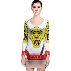 Coat of Arms of The Democratic Republic of The Congo Long Sleeve Bodycon Dress