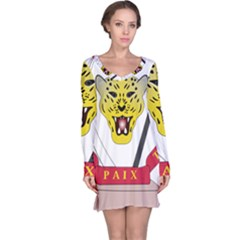 Coat of Arms of The Democratic Republic of The Congo Long Sleeve Nightdress