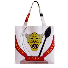 Coat of Arms of The Democratic Republic of The Congo Zipper Grocery Tote Bag