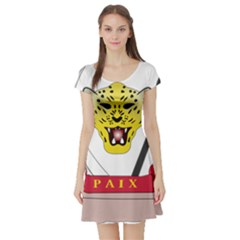 Coat of Arms of The Democratic Republic of The Congo Short Sleeve Skater Dress