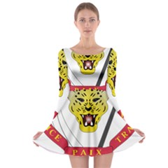 Coat of Arms of The Democratic Republic of The Congo Long Sleeve Skater Dress