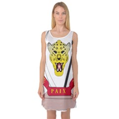 Coat of Arms of The Democratic Republic of The Congo Sleeveless Satin Nightdress