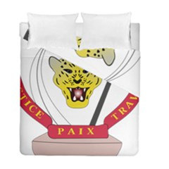 Coat of Arms of The Democratic Republic of The Congo Duvet Cover Double Side (Full/ Double Size)
