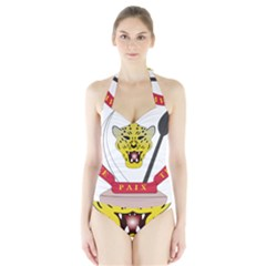 Coat of Arms of The Democratic Republic of The Congo Halter Swimsuit