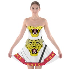 Coat of Arms of The Democratic Republic of The Congo Strapless Bra Top Dress