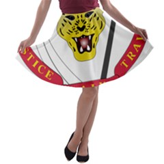 Coat of Arms of The Democratic Republic of The Congo A-line Skater Skirt