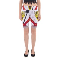 Coat Of Arms Of The Democratic Republic Of The Congo Yoga Cropped Leggings