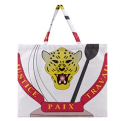 Coat of Arms of The Democratic Republic of The Congo Zipper Large Tote Bag