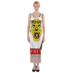 Coat of Arms of The Democratic Republic of The Congo Fitted Maxi Dress