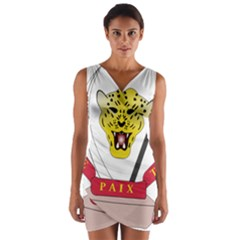Coat of Arms of The Democratic Republic of The Congo Wrap Front Bodycon Dress