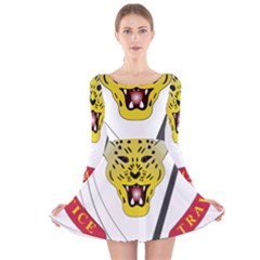 Coat of Arms of The Democratic Republic of The Congo Long Sleeve Velvet Skater Dress