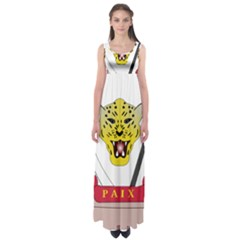 Coat of Arms of The Democratic Republic of The Congo Empire Waist Maxi Dress